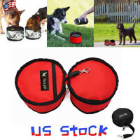 Portable Pet Dog Bowl Cat Collapsible Foldable Travel Camping Food Drinking Bowl