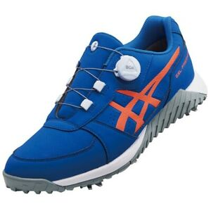 Asics Golf Shoes Gel-Preshot Boa Soft Spike Wide 1113A003 Blue With Tracking