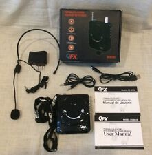 QFX CS-80US Portable PA System Headset/Microphone +USB/Micro-SD & FM Radio, Mint