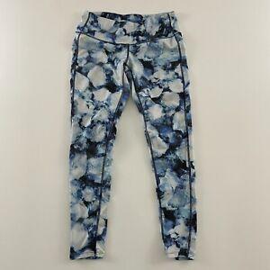 Athleta 7/8 Floral Yoga Leggings Athletic Pants Women's S Petite Blue