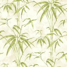 Kathy Ireland Green Bamboo Branches on Easy Walls Wallpaper NL58093
