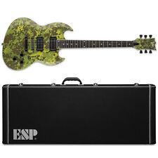 ESP LTD Volsung Lars Frederiksen Danish Camo Satin DCS Guitar + Hardshell Case