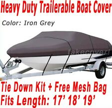 Bass Tracker V-nose Trailerable Boat Cover Y-IG GRAY