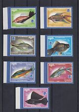TIMBRE STAMP 7 CAMBODGE Y&T#816-22  POISSON FISH NEUF**/MNH-MINT 1988 ~A06