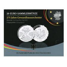 20 Euro Silber 275 Jahre Gewandhausorchester - Deutschland 2018 Spiegelglanz PP
