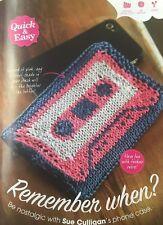 Knitting Pattern cassette Motif Housse de téléphone rétro mobile Cosy Rowan Pattern