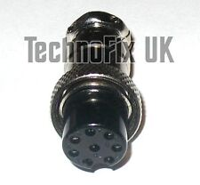 8 pin microphone connector locking plug mike (GX16-8) for many popular radios