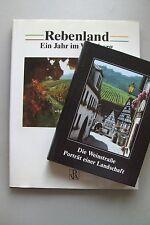 2 Bücher Weinstraße Porträt einer Landschaft Reben Rebenland Jahr im Weinberg