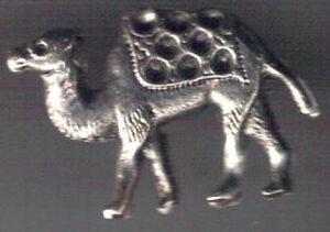 Camel silver colour 3D Pin