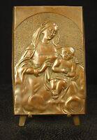 Medal Blanks to L' Child Virgin Maria & Child Jesus 130mm 358g Medal 铜牌