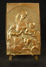Médaille Vièrge à l'enfant Virgin Maria & Child Jésus 130mm 358g Medal 铜牌