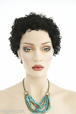 Small Tight Ringlets Short Afro Style Brunette Red Curly Wigs Avail in 13 Colors