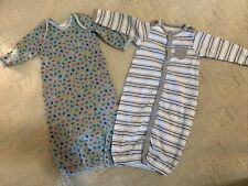 Two Baby Boy Starting Out & Koala Baby Sleeper/Gowns Size 0-3 Months Multicolors