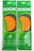Lot of 2 Dixon 8 Count Yellow NO #2 Pencils Latex Free Eraser Real Wood Unopened