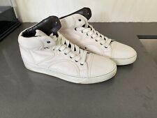 Lanvin White Leather High Top Sneaker Size 12 US Designer