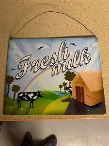 Metal Fresh Milk Hanging Sign