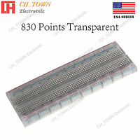 830 Tie Point BreadBoard Solderless PCB Transparent MB-102 MB102 For Arduino USA