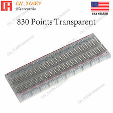 MB-102 MB102 830 Tie Point Solderless PCB Transparent BreadBoard For Arduino USA
