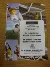 20/10/2010 nel Cambridgeshire ALLEANZA DOMENICA lega V Cambridge DOMENICA League [a S