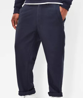 G Star Bronson Loose Cropped Blue Trousers Mens Size 32WL *Ref43