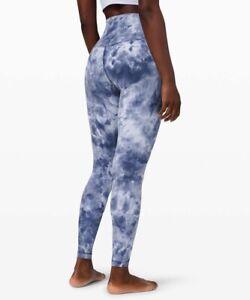New W. Tag Lululemon align pant legging Diamond Dye Daydream Ink Blue 6 - Rare