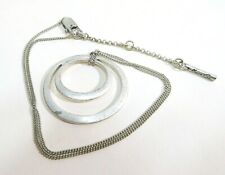 KENNETH COLE SILVERTONE, DOUBLE OVAL NECKLACE