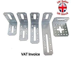 Galvanised Corner Assembly Adjustable Angle Bracket Joist Timber Mending Plates