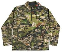 Under Armour UA Coldgear Zephyr Fleece Camo 1/4 Zip Pullover Mens Hunting Shirt
