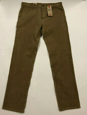 Nwt Mens Levis 502 Regular Taper Fit Tan Stretch Cords Jeans Pants 33 32