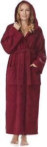 Damen-Bademantel Astra mit Kapuze, wadenlang oder extra lang, 100% Baumwolle