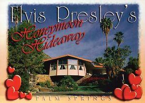 Elvis Presley Honeymoon Hideaway, Palm Springs California, House, CA -- Postcard