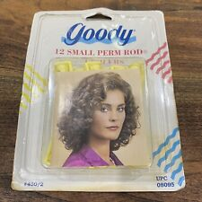 Goody 12 Small Perm Rod Curlers Waves Rollers Yellow Vintage 90's Sealed Pack