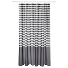 Grey White Striped Shower Curtain. New IKEA VADSJ N Vadsjon Dark Grey  White Striped Shower Curtain Curtains eBay