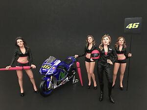 GIRLS TEAM 4PC FIGURE SET 1:24 BY AMERICAN DIORAMA 77485,77486,77487,77488