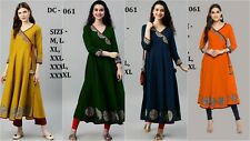 Indian Kurta Kurti Bollywood Pakistani Women Long Tunic Designer Anarkali Kameez