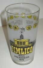 VINTAGE PIMLICO 104TH PREAKNESS 1979 HORSE RACE DRINKING GLASS RACING DEAL/6