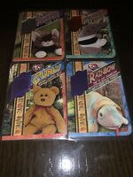 1999 TY Beanie BABIES RETIRED CARDS LOT OF 4 SERIALLY NUMBERED CARDS