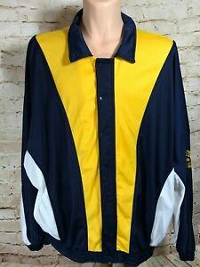 Reebok Basketball Warmup Jacket Sz 2XL Blue,Yellow,White Full Zip & Snap