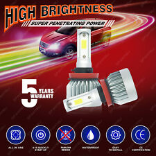 H11 2000W 300000LM CREE LED Headlight Kit Low Beam Bulbs 6000K White High Power