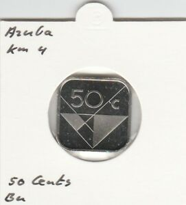 Aruba 50 cents 1990 BU - KM4