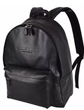 Coach Charles Campus Large Backpack In Black Soft Calf Leather F54786 BNWT