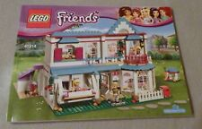Lego FRIENDS Manual Only NEW (from set) #41314 Stephanie's House