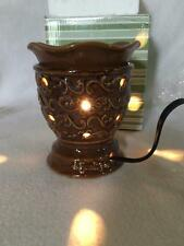 New Scentsy Full Size Candle Warmer Brown Contemporary Torino Style