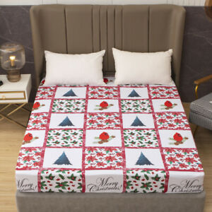 Merry Christmas Design Fitted Sheet Single Double King Super King Xmas Gift
