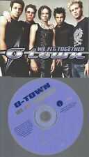 PROMO CD--O TOWN --WE FIT TOGETHER --1 TR