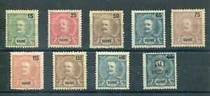 PORTUGAL Guinea 1903 D. Carlos Complete set MHNG