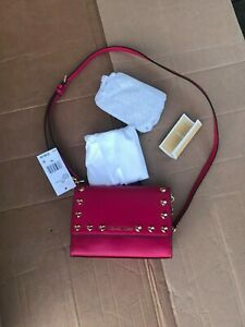 Michael Kors Ruby Medium Leather Clutch Handbag 30H7GR0C2U Pink - FREE SHIPPING