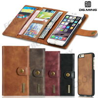 Luxury Magnetic Tri-fold Retro Leather Wallet Case Cover For Various Cell Phone