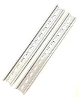 """2 Pieces DIN Rail Slotted Aluminum RoHS 12"""" Inches Long 35mm 7.5mm T&G"""