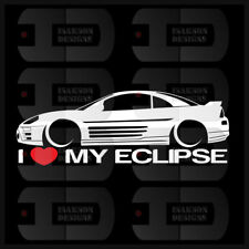 I Love My Eclipse Sticker Decal Heart Mitsubishi JDM Race Car Stance Low 3rd Gen